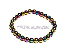Load image into Gallery viewer, Rainbow Hematite Stretch Bracelet