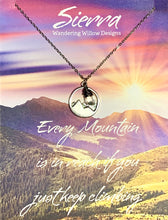 Load image into Gallery viewer, Sierra Inspirational Necklace Card