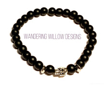 Load image into Gallery viewer, Matte Black Onyx Stretch Bracelet