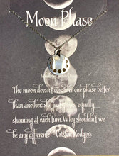 Load image into Gallery viewer, Moon Phase Inspirational Necklace Card