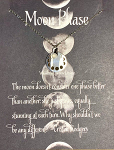 Moon Phase Inspirational Necklace Card