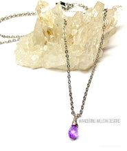 Load image into Gallery viewer, Amethyst Minimalist Necklace