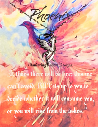 Phoenix Inspirational Necklace Card