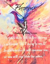 Load image into Gallery viewer, Phoenix Inspirational Necklace Card