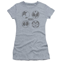 Load image into Gallery viewer, Kiss Paint Circles Junior Girls Sheer Band  T-Shirt