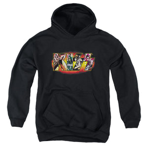 Kiss Collage Logo Teen Pullover Hoodie Band Sweatshirt