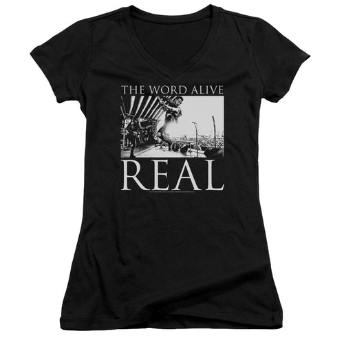 The Word Alive Live Shot Junior Girls V Neck Band  T-Shirt