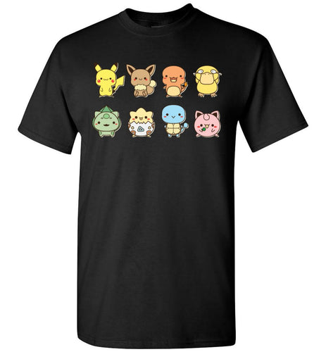 Cute Friends Pokemon Video Game T-Shirt