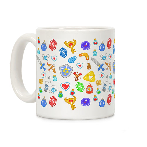 Hero Items Video Game Mug