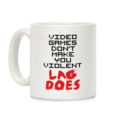 Violent Lag Video Game Mug