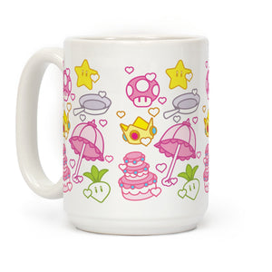 Princess Items Mario Video Game Mug