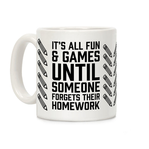 Homework Video Game Mug