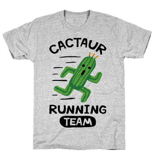 Running Cactus Video Game T-Shirt