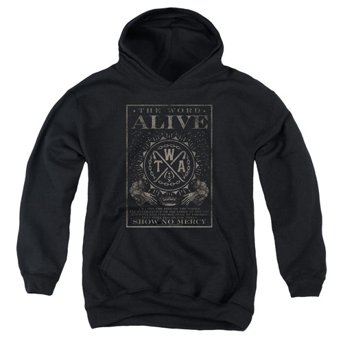 The Word Alive Show No Mercy Teen Pullover Hoodie Band Sweatshirt