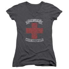 Load image into Gallery viewer, Bon Jovi Bad Medicine Junior Girls V Neck Band  T-Shirt