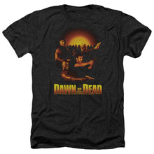 Load image into Gallery viewer, Dawn Of The Dead Dawn Collage Heather Movie T-Shirt