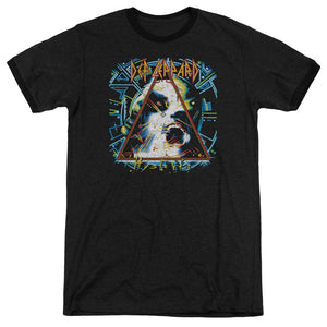 Def Leppard Hysteria Heather Ringer  Band T-Shirt