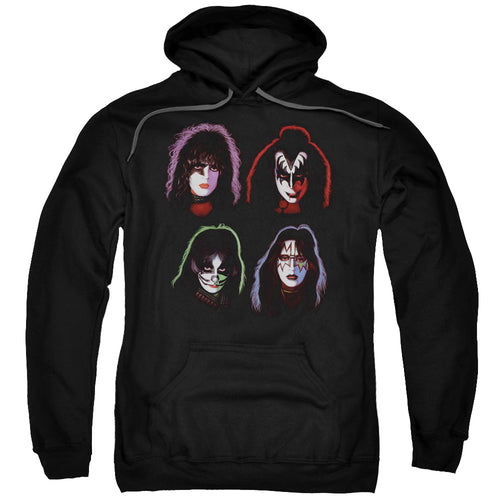 Kiss Solo Heads Pullover Hoodie Band Sweatshirt