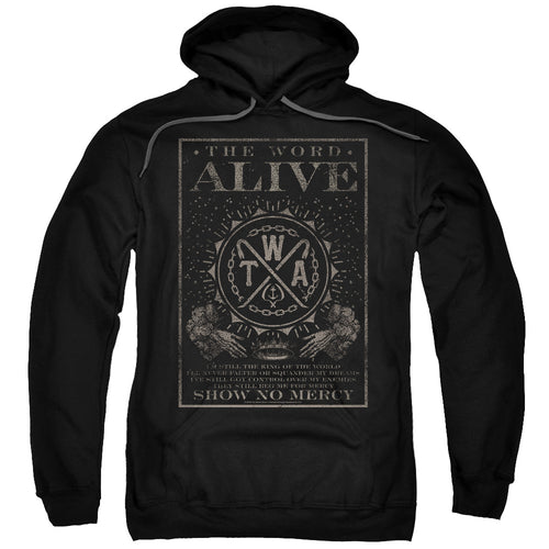 The Word Alive Show No Mercy Pullover Hoodie Band Sweatshirt