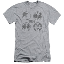 Load image into Gallery viewer, Kiss Paint Circles  Slim Fit Band T-Shirt