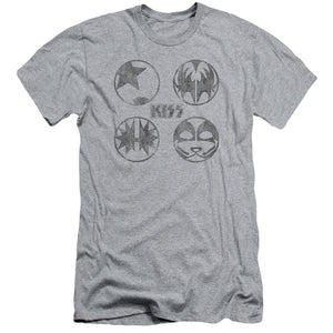 Kiss Paint Circles  Slim Fit Band T-Shirt