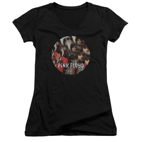 Pink Floyd The Piper At The Gates Of Dawn Junior Girls V Neck Band  T-Shirt