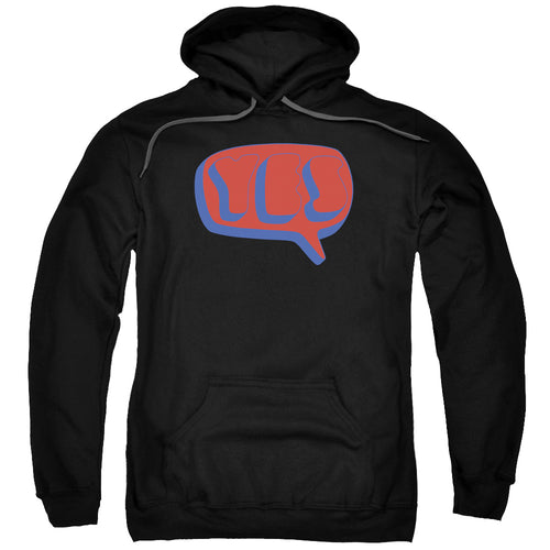 Yes Word Bubble Pullover Hoodie Band Sweatshirt
