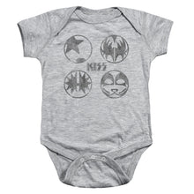 Load image into Gallery viewer, Kiss Paint Circles Infant Band Snapsuit