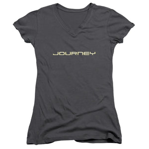 Journey Logo Junior Girls V Neck Band  T-Shirt