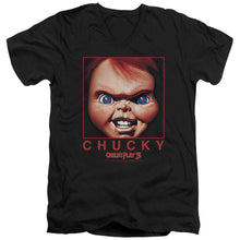 Load image into Gallery viewer, Childs Play Chucky Squared V Neck Movie T-Shirt