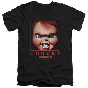 Childs Play Chucky Squared V Neck Movie T-Shirt