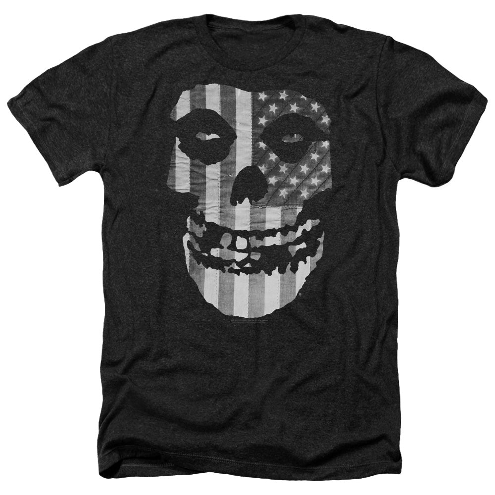 Misfits Fiend BW Flag Heather Band T-Shirt