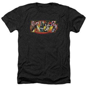 Kiss Collage Logo Heather Band T-Shirt