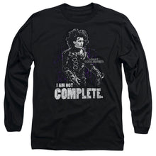 Load image into Gallery viewer, Edward Scissorhands Not Complete Long Sleeve Movie T-Shirt