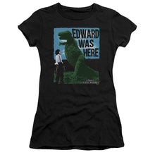 Load image into Gallery viewer, Edward Scissorhands Edward Was Here Junior Girls Sheer Movie T-Shirt