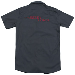 Delta Force Distressed Logo (Back Print) Movie Work T-Shirt