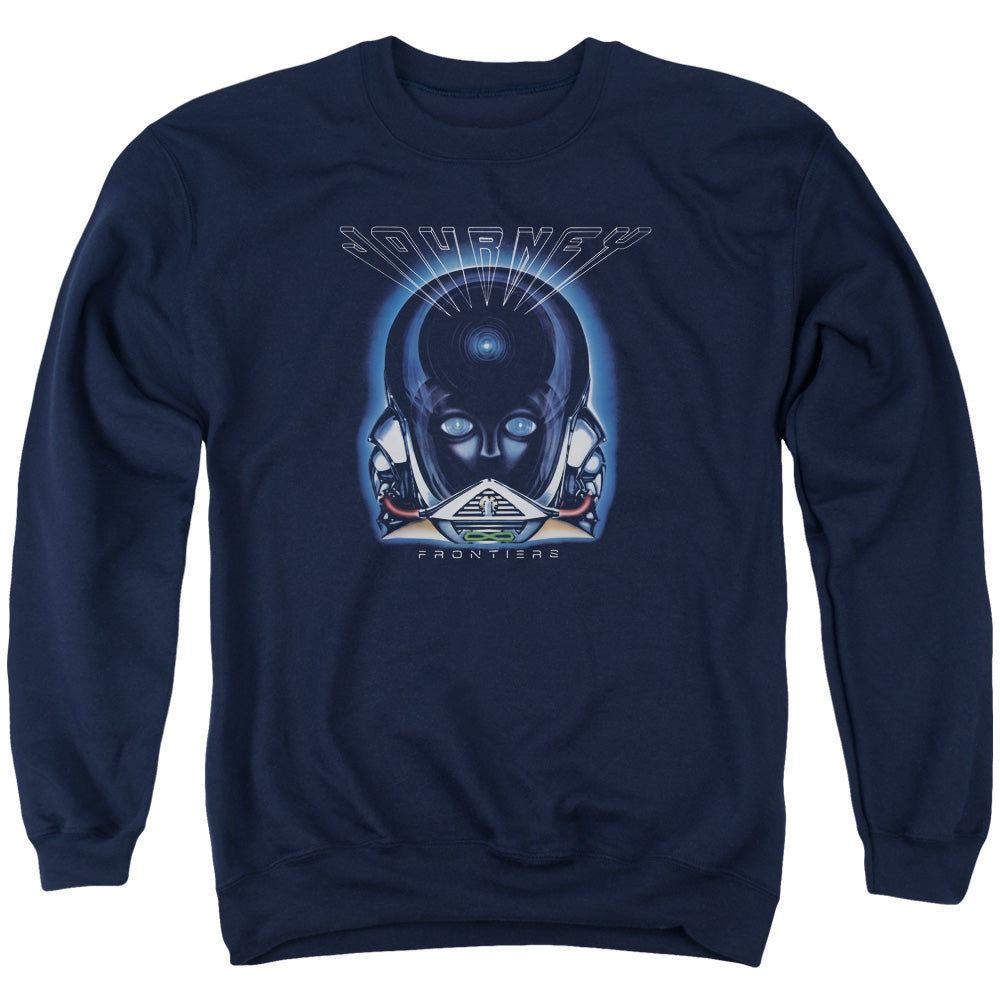 Journey Frontiers Cover Adult Crewneck Band Sweatshirt