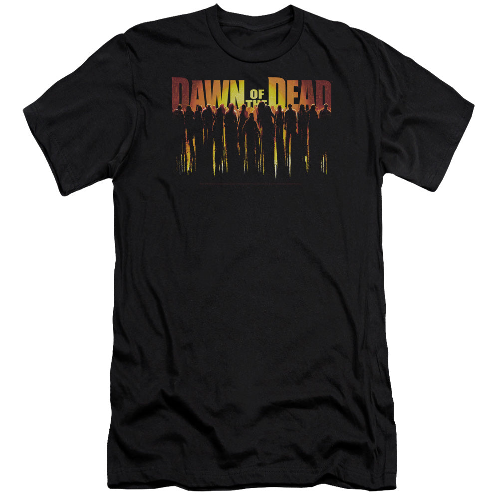 Dawn Of The Dead Walking Dead Premium Canvas Jersey Movie T-Shirt
