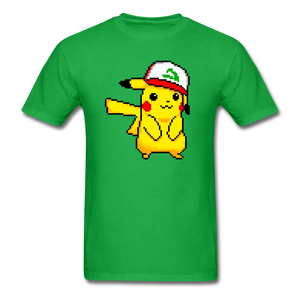 new shirt poke - bright green