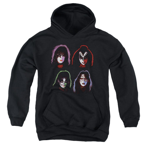 Kiss Solo Heads Teen Pullover Hoodie Band Sweatshirt