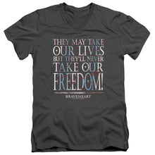 Load image into Gallery viewer, Braveheart Freedom V Neck Movie T-Shirt
