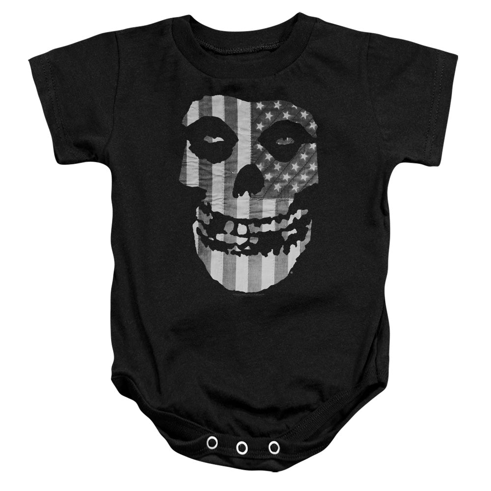 Misfits Fiend BW Flag Infant Band Snapsuit