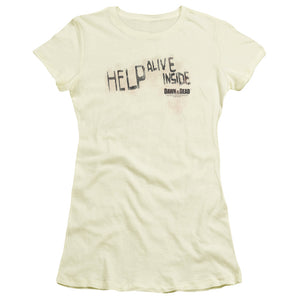 Dawn Of The Dead Help Alive Inside Junior Girls Sheer Movie T-Shirt