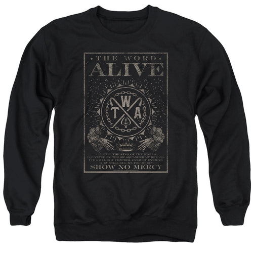 The Word Alive Show No Mercy Crewneck Band Sweatshirt
