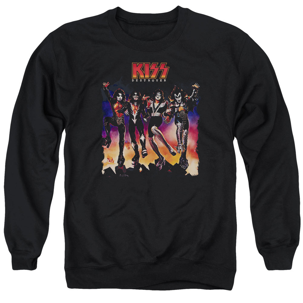 Kiss Color Destroyer Crewneck Band Sweatshirt