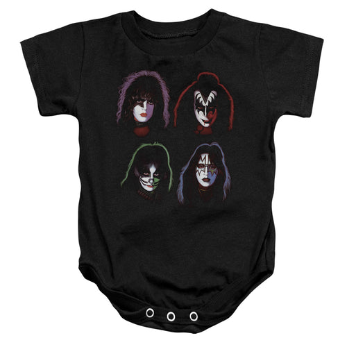 Kiss Solo Heads Infant Band Snapsuit