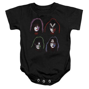 Kiss Floating Heads Infant Band Snapsuit