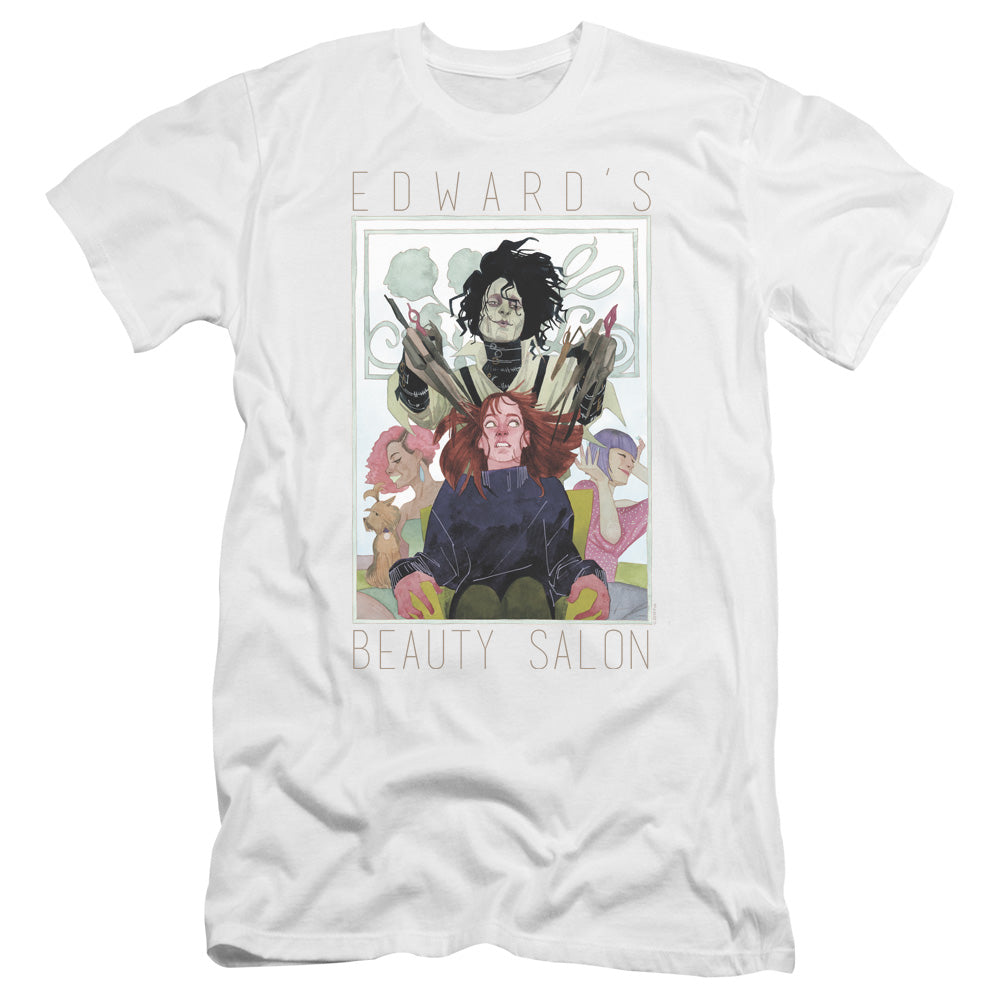 Edward Scissorhands Salon Premium Canvas Jersey Movie T-Shirt