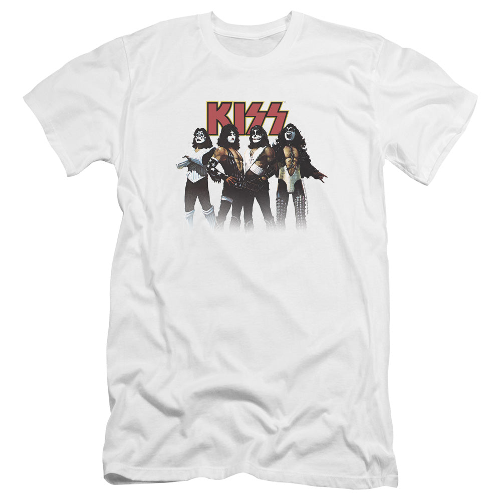 Kiss Power Pose Premium Canvas Jersey Band T-Shirt