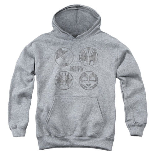 Kiss  Icons Teen Pullover Hoodie Band Sweatshirt
